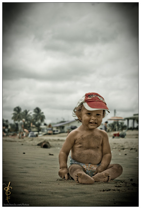 Little Gabriel at the beach