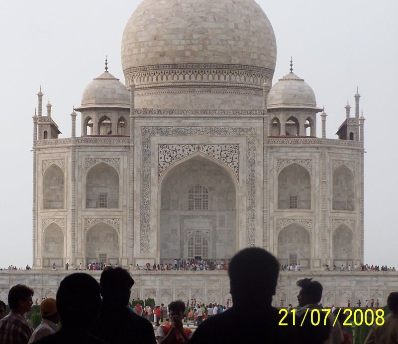 First Sight of Taj Mahal