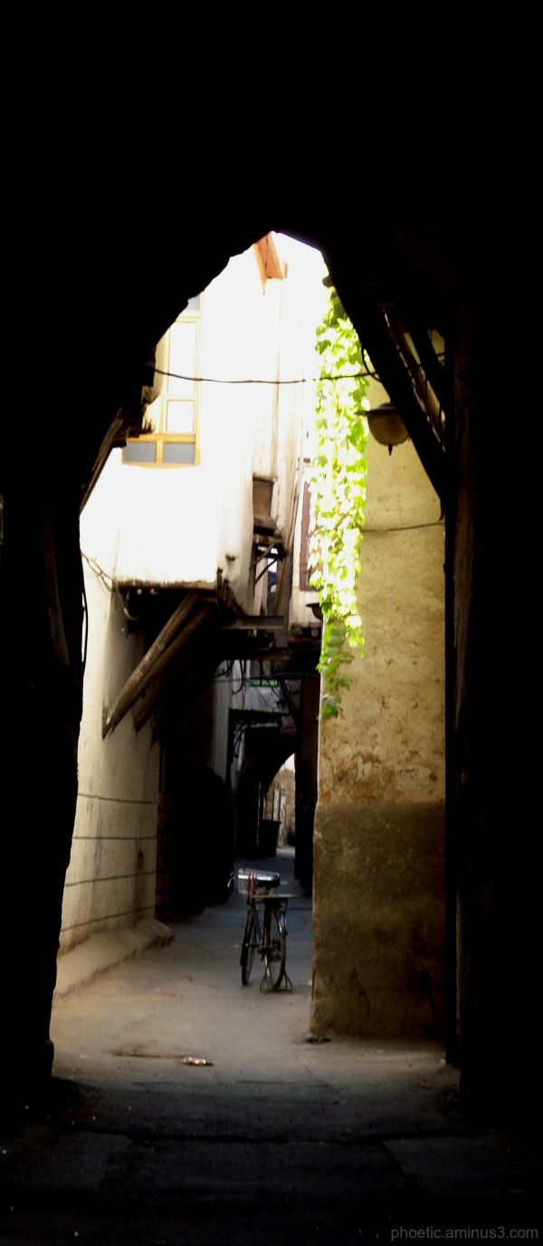 Street view in Old Damascus, Syria