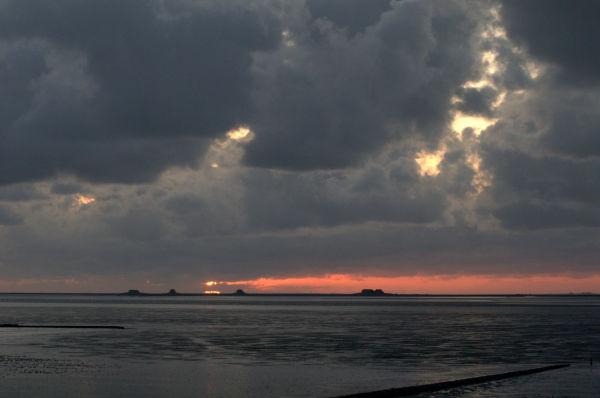 Versuch eines Sonnenunterganges
