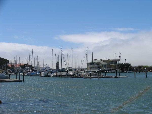 Golden Gate Bridge fogged in.