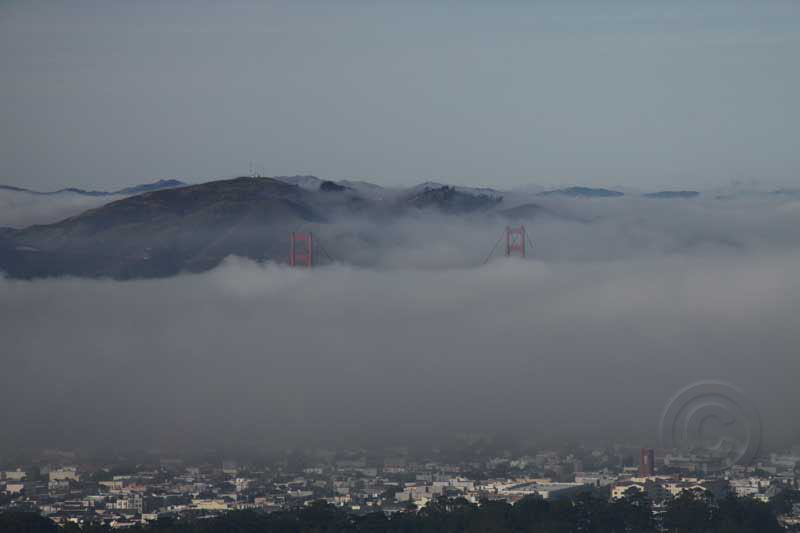 Both Towers of Golden Gate Bridge