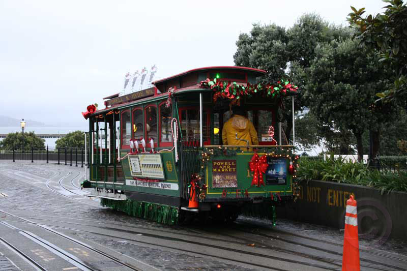 Decorated Cable Car