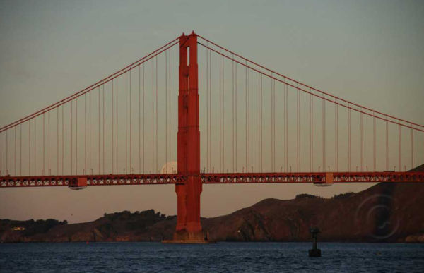Full Moon and Golden Gate Bridge #4