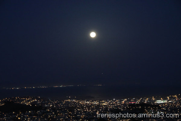 Super Moon Over San Francisco