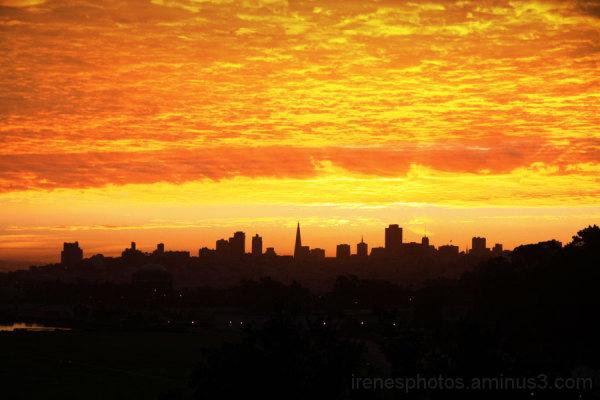 Sunrise on October 21, 2012