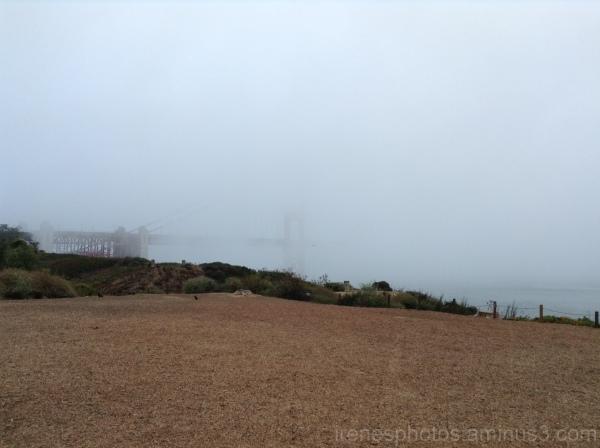 Dense Fog on Golden Gate Bridge
