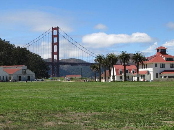Crissy Field with Golden Gate Bridge