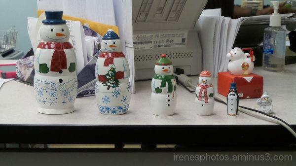 Snowmen Nesting Dolls