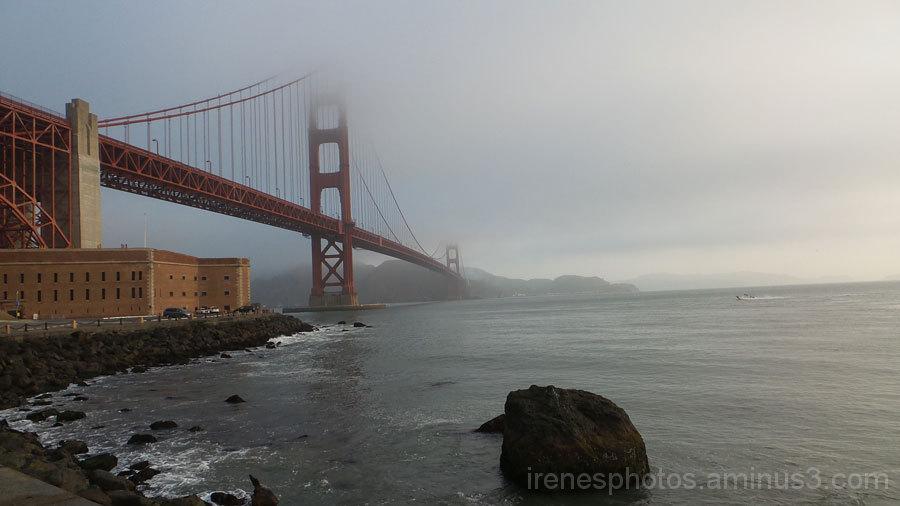 Smokey/Foggy Golden Gate Bridge