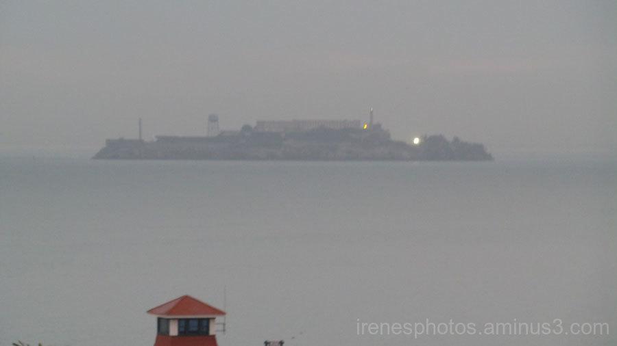 Light on Alcatraz
