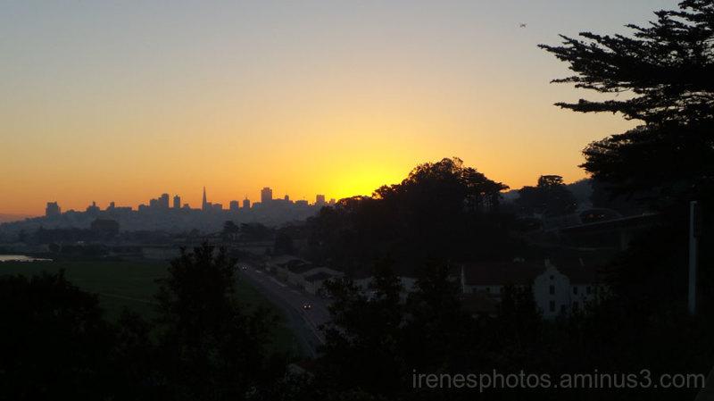 Sunrise on Feb. 9, 2016