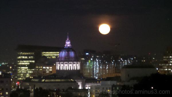 Moon and City Hall