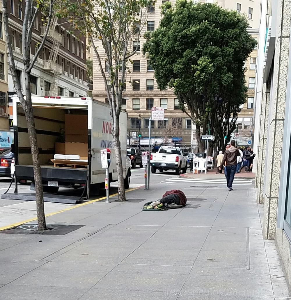 Homeless on Sidewalk