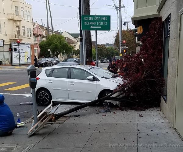 Car Swerved