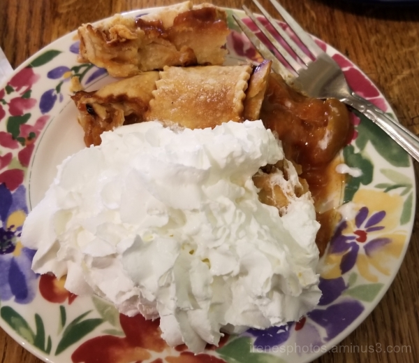 Apricot Pie w/Whipped Cream