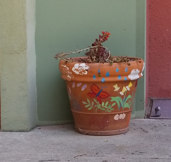 Decorated Planter