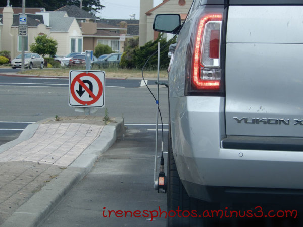 Contraption on SUV