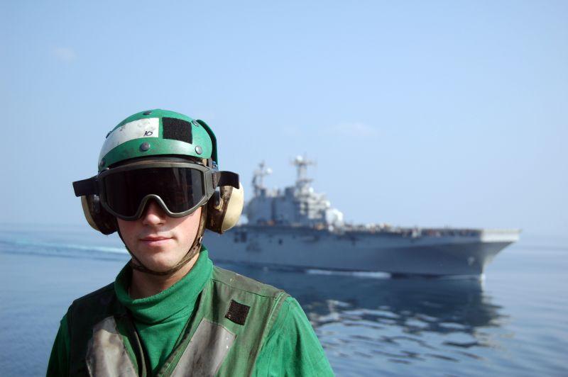 Navy ABE on the flight deck