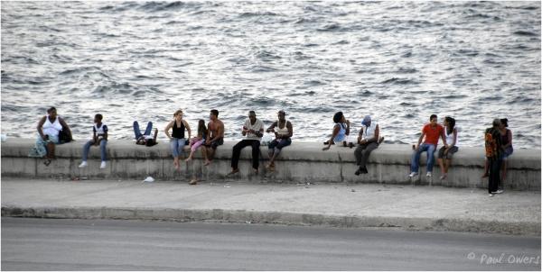 Sunday afternoon on the Malecon, Havana, Cuba