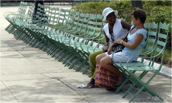 Chatting on chairs, Cienfuegos, Cuba