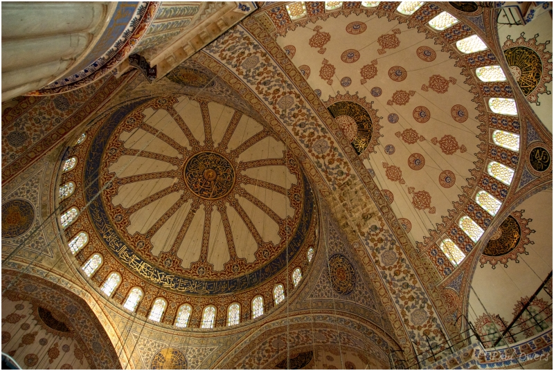 Inside Blue Mosque Istanbul Turkey