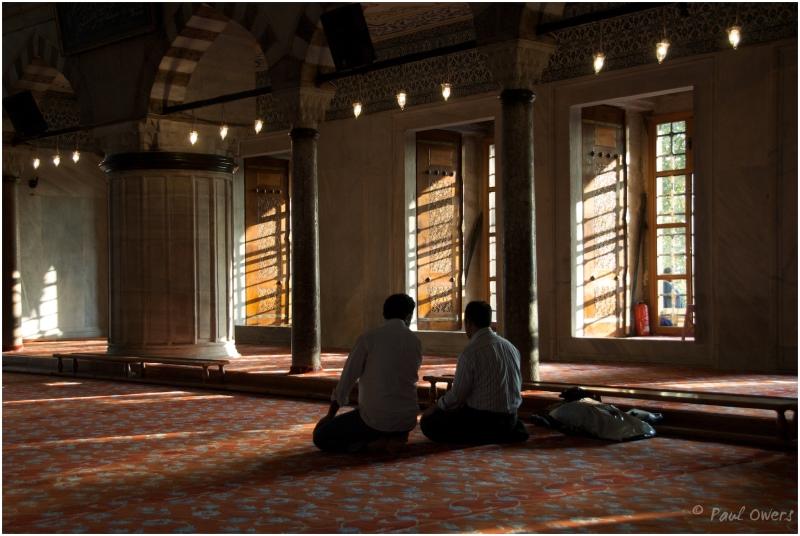 Blue Mosque Istanbul Turkey prayers
