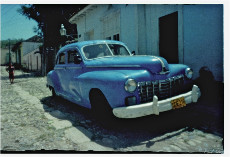 Backstreet through a pinhole, Trinidad, Cuba