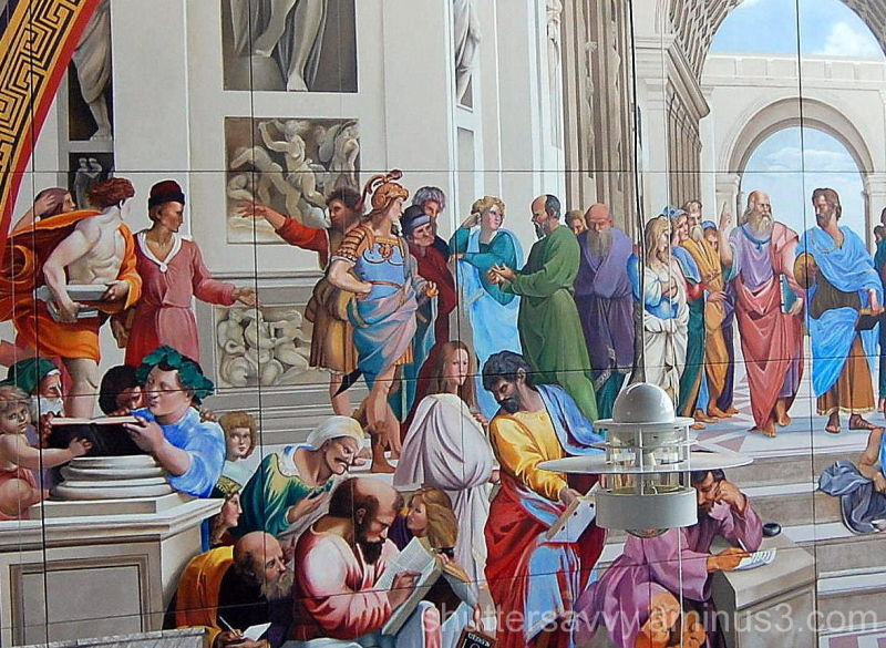 raphael's school of athens The school of athens by raphael the school of athens was painted by raphael sanzio or the fresco of raphael's school of athens is a masterpiece of.