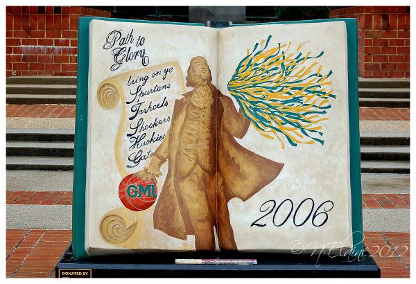 book statue