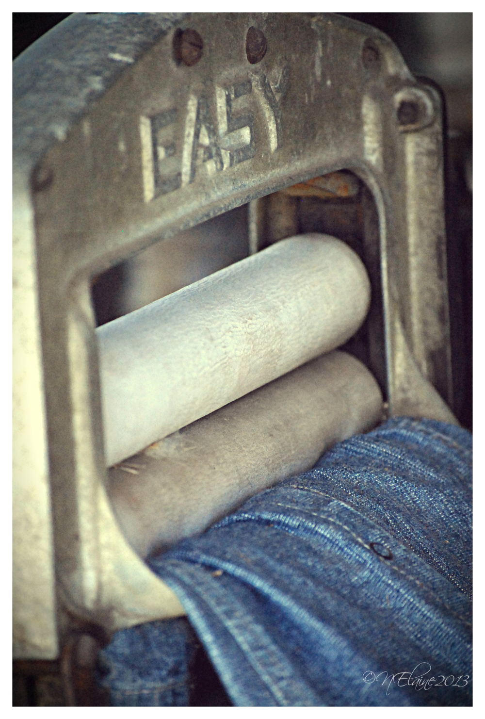 jeans in old washer