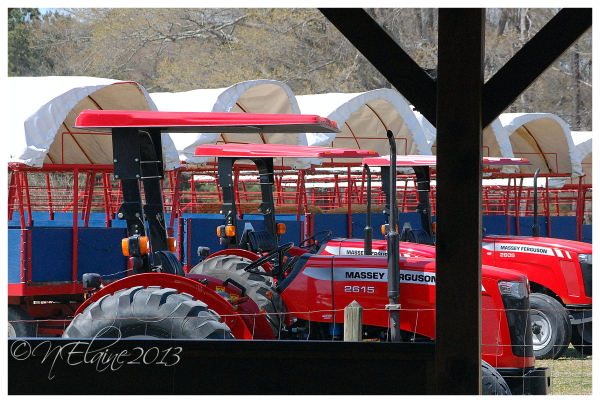 tractors and wagons