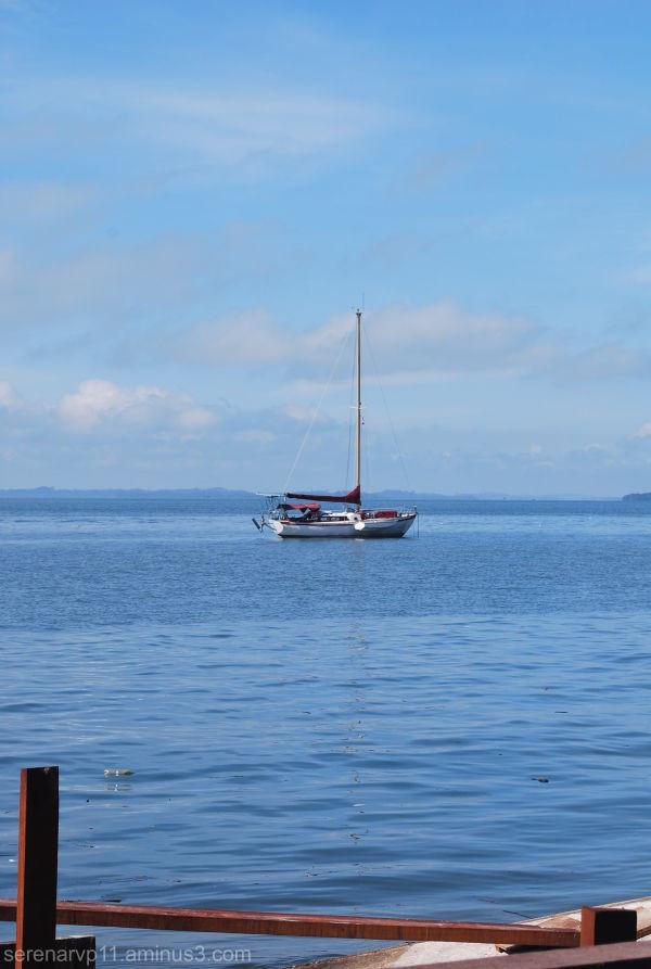Small boat in the Sea