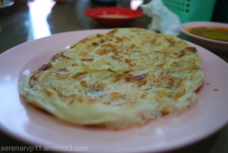 A piece of freshly made Roti Canai