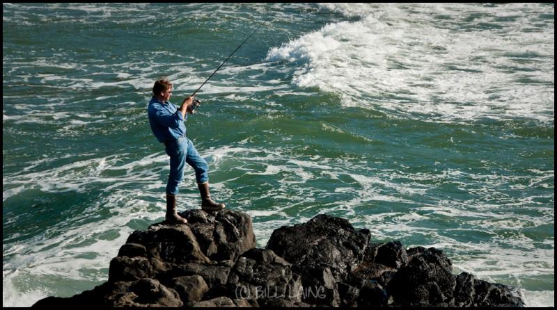 Surf Fishing at Yachats