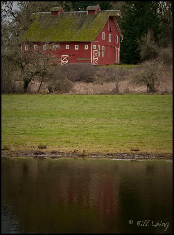 Red Barn Across Pond