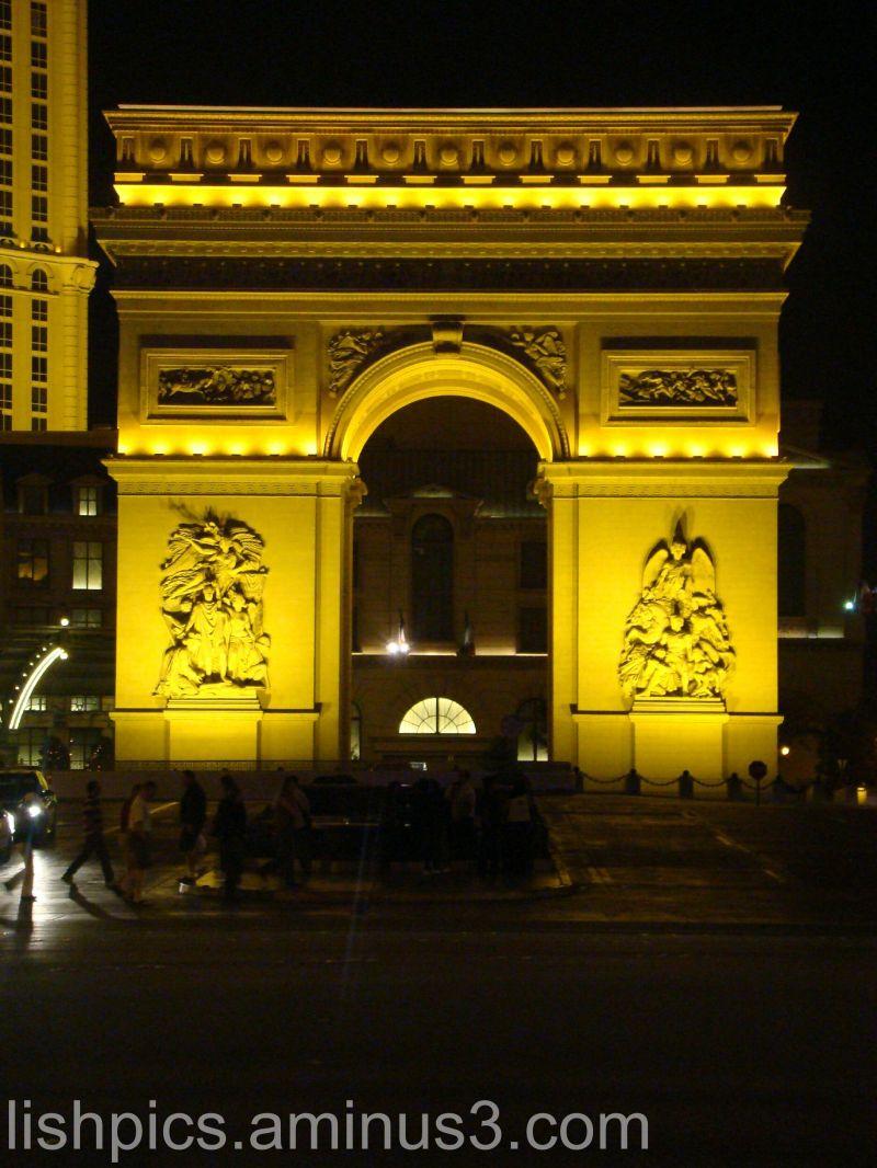 The Arc de Triomphe at Paris Las Vegas