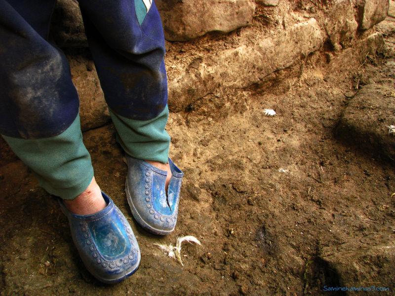 کفش های آبیِ یک الهه