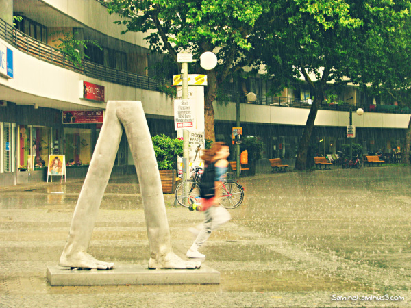 Run in the rain..