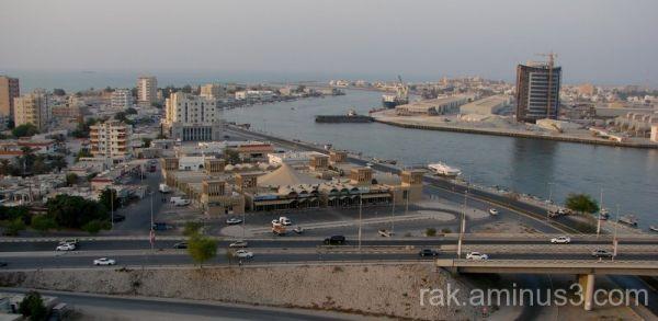 Ras Al Khaimah, old city, View Hotel, port