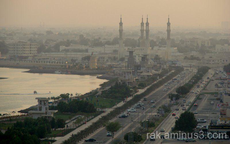 Ras Al Khaimah, corniche to the Sheikh Zayed Mosqu