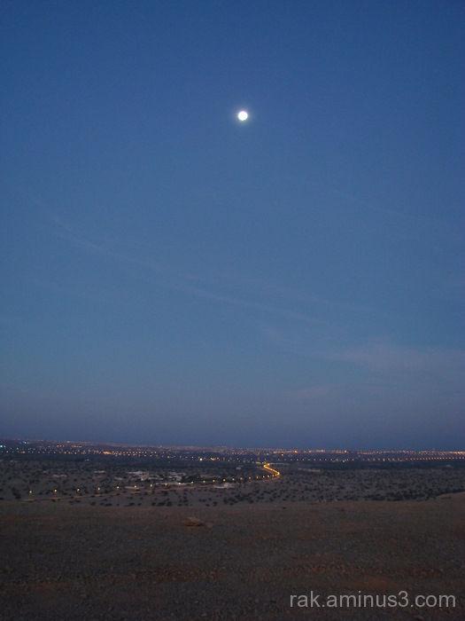 Ras Al Khaimah moon