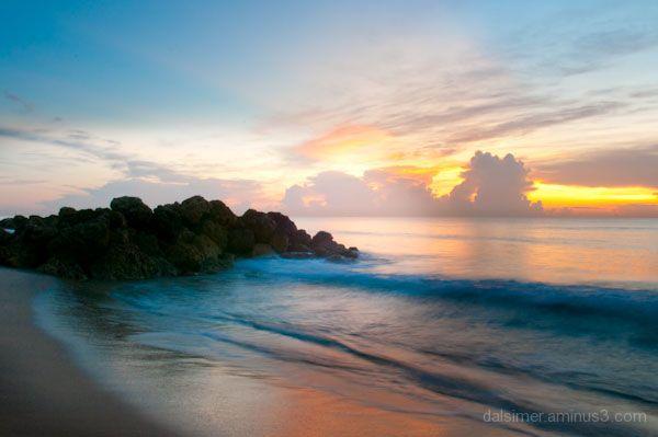 deerfield beach florida waves crashing