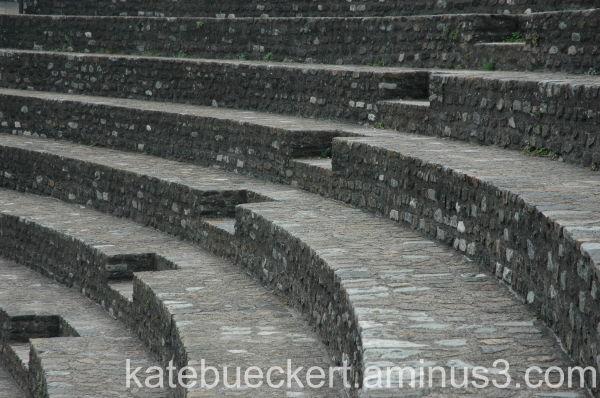 Steps at the roman ruins
