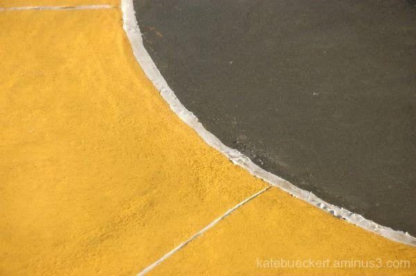 Splash pad - flower on the ground