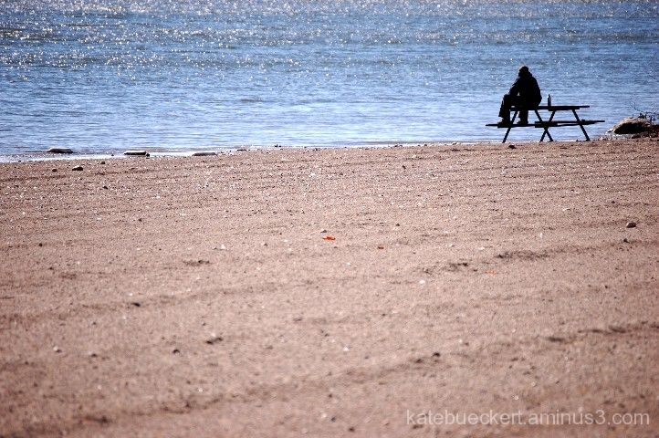 A fall day in October - cold beach