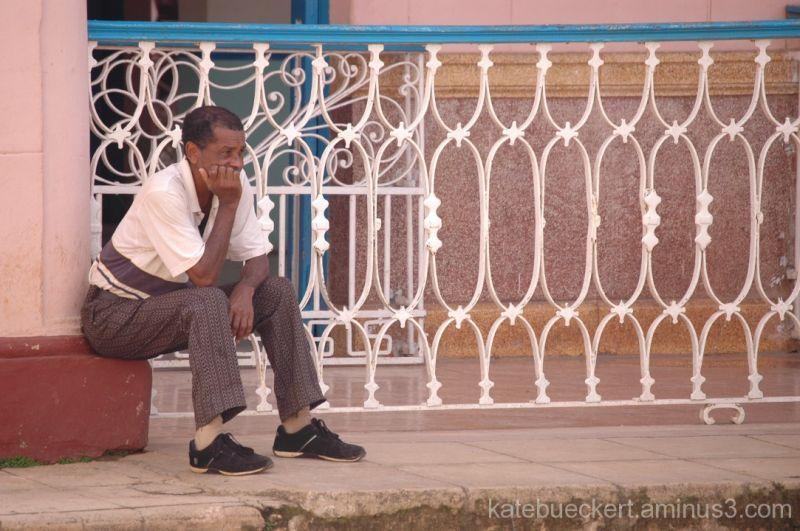Man sitting in Remedios