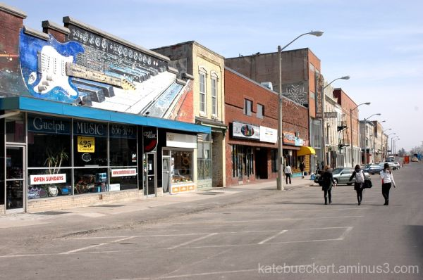 Downtown Guelph - music store