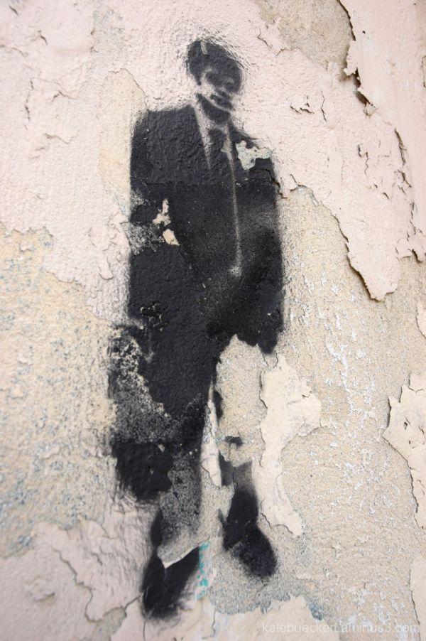 Downtown graffiti - Fake Banksy