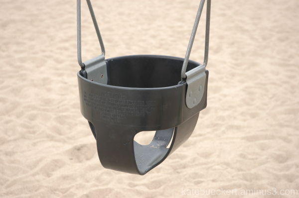 The empty baby swing